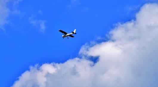 В Алматинской области упал двухместный самолет