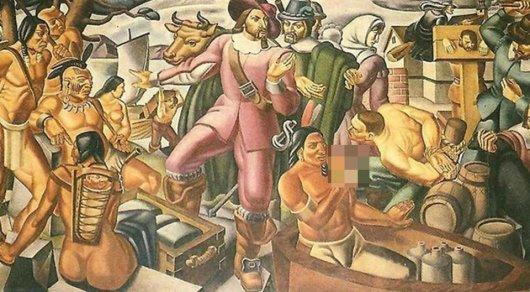 На фреске 1937 года обнаружили индейца с iPhone