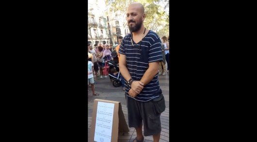 Поступок мусульманина после теракта вызвал аплодисменты жителей Барселоны