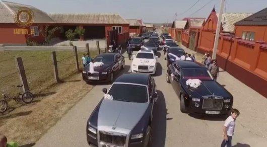 Рамзан Кадыров выложил видео роскошной свадьбы своего племянника
