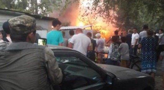 Пожар произошел в центре Алматы