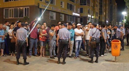 Уголовное дело возбуждено после инцидента с иностранными рабочими - ДВД Астаны