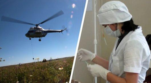 ВКазахстане вертолет совершил жесткую посадку