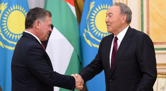 Президент Казахстана и монарх Иордании обсудили ситуацию вСирии