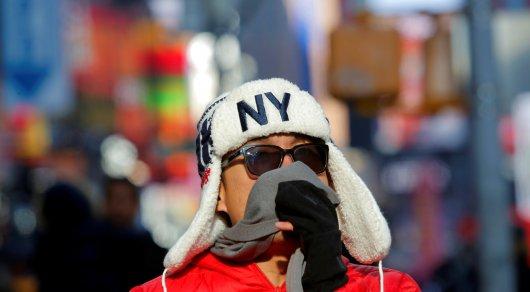 Мэр Нью-Йорка призвал граждан города чаще оставаться дома из-за холодной погоды