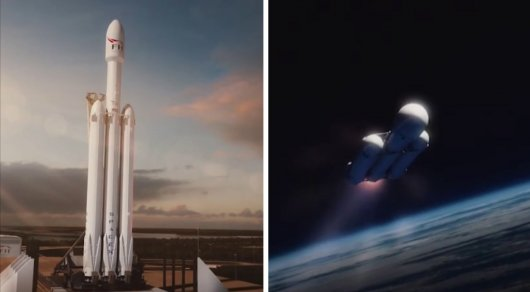 SpaceX запустила ракету-носитель Falcon Heavy с автомобилем Tesla на борту