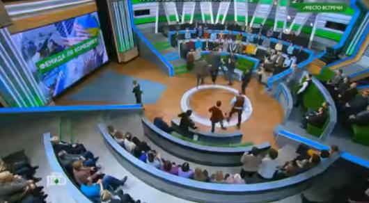 Телевизионный ведущий Норкин устроил драку впрямом эфире