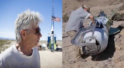 Верящий в плоскую Землю американец совершил полет на самодельной ракете
