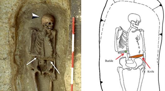Археологи обнаружили удивительный скелет сножом вместо руки