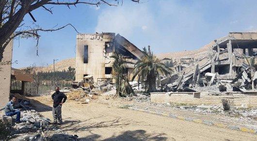 СNN обнародовала кадры подвергшихся обстрелу объектов вСирии