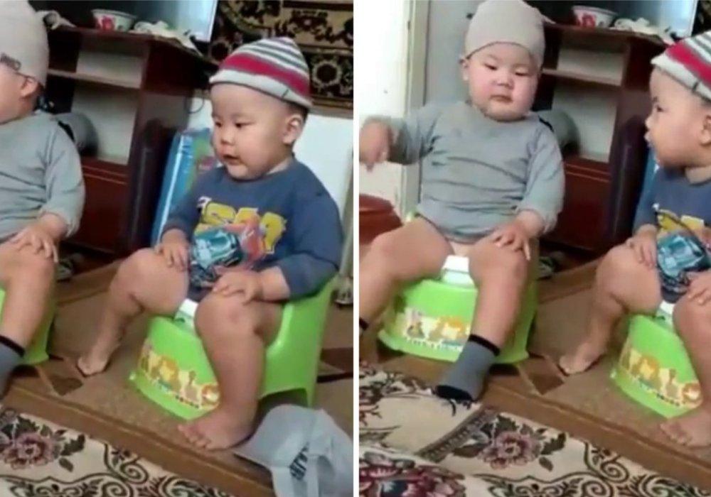 Будущие министры! - беседа малышей на горшках умилила пользователей Казнета