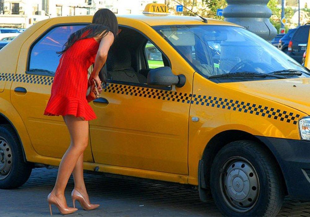 прикатал телку в такси - 4