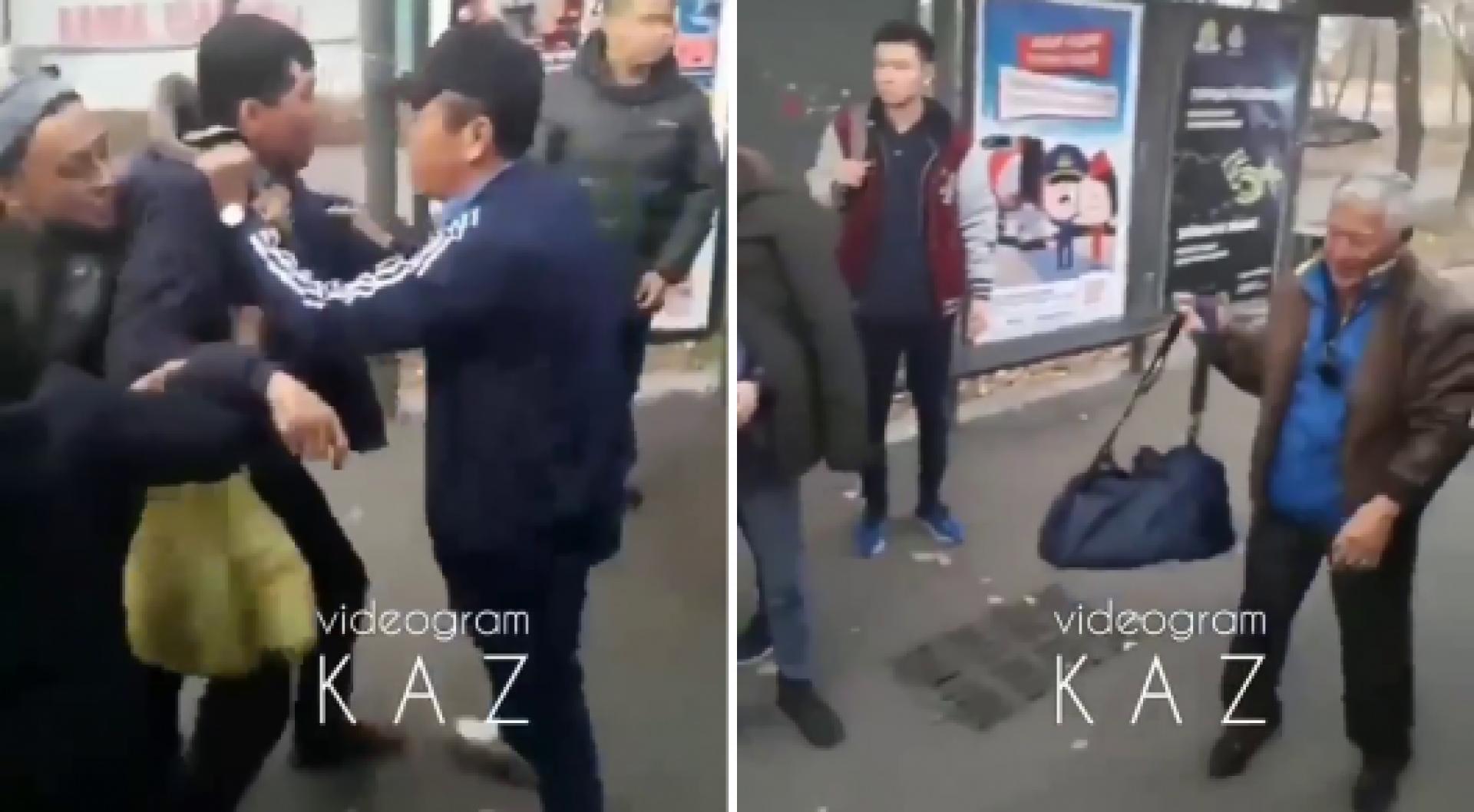 Получил продолжение инцидент с нападением на пожилого пассажира в Алматы
