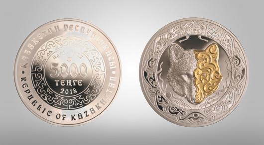 Нацбанк Казахстана выпустил монеты с волком
