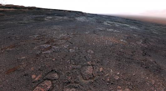 NASA показала панорамное видео, снятое наповерхности Марса