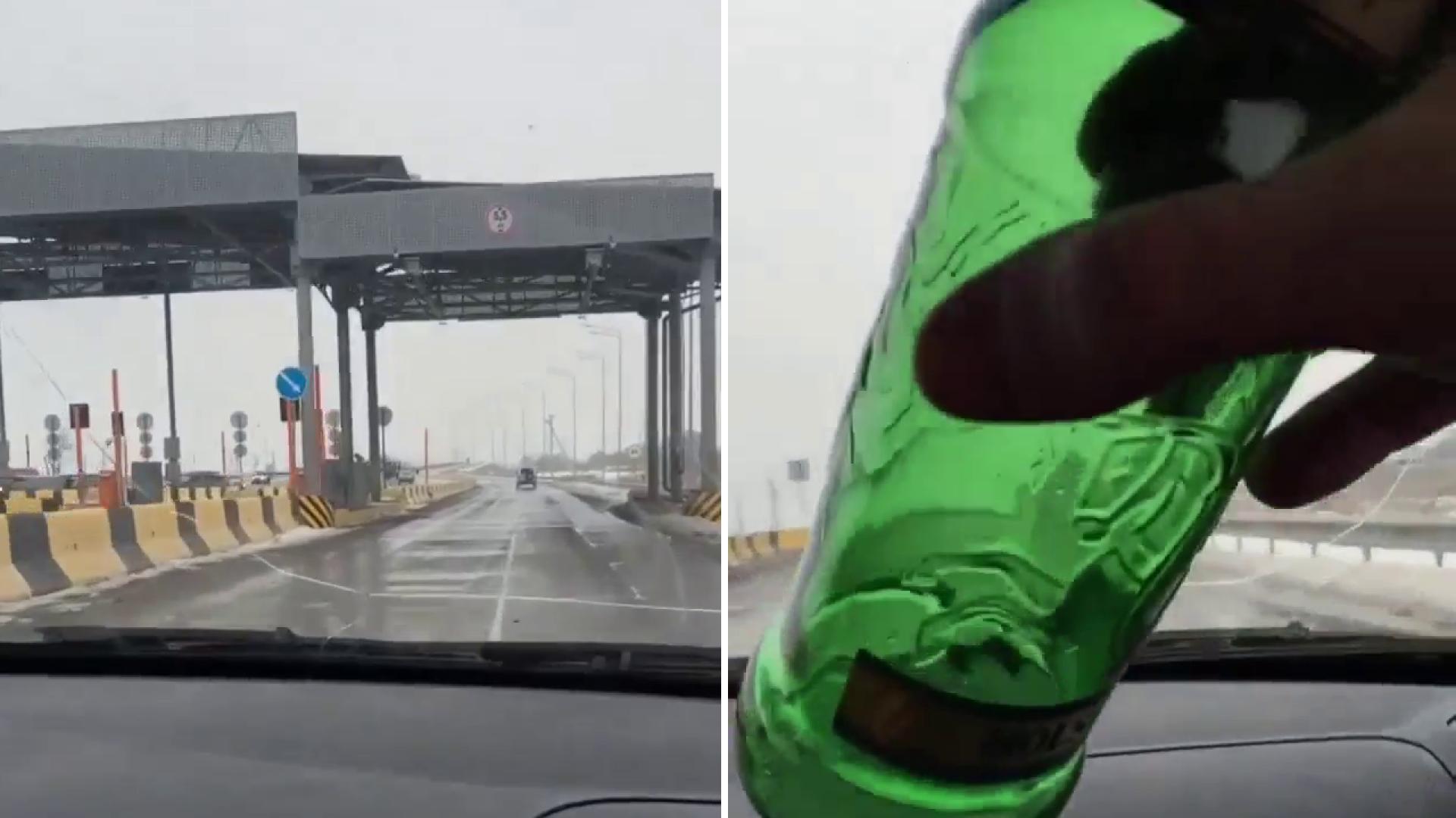 """""""Я плачу за эту дорогу, пусть убираются!"""": видео водителя возмутило Казнет"""