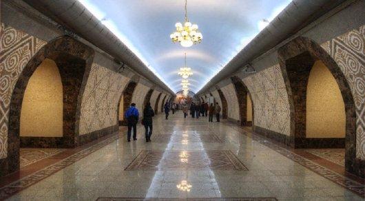 """Станция метро """"Алмалы"""". © yvision.kz"""
