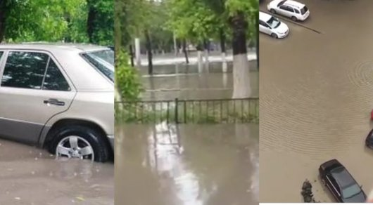 Аномальные дожди привели к подтоплению в Павлодаре