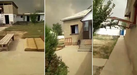 Последствия взрывов в Арыси (видео)