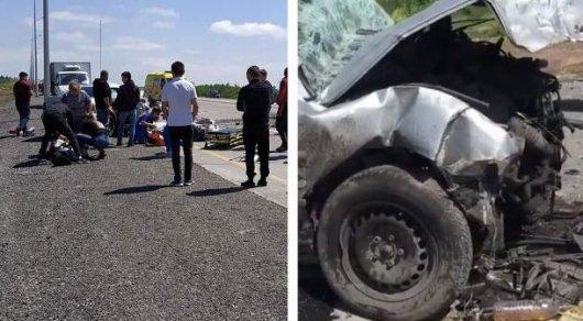 Крупное ДТП на трассе Караганда-Темиртау: 6 человек погибли