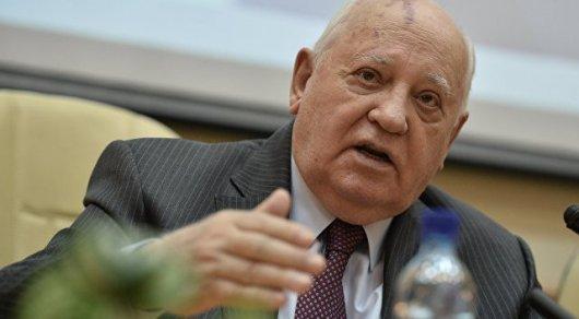 Горбачев сказал обобращении кПутину иМакрону