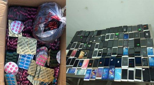 Китайские лекарства и б/у телефоны пытались пронести в Казахстан -