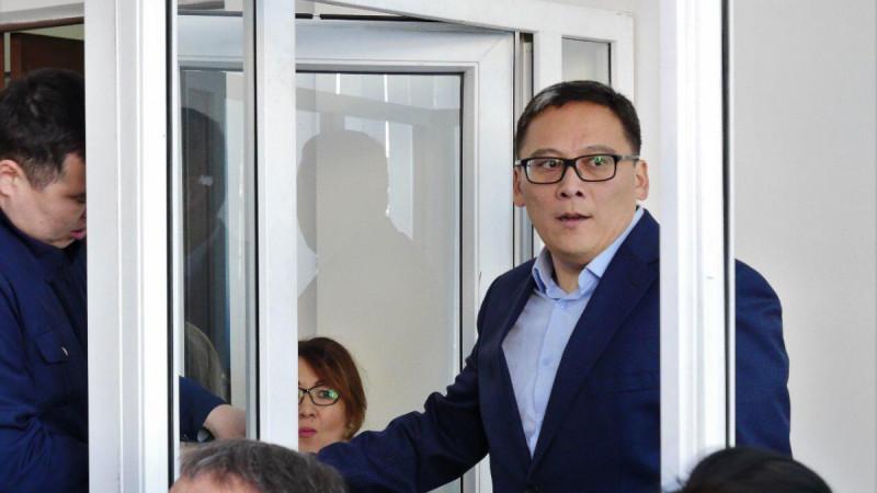 Дамир Шыныбеков в зале суда. Фото: azattyq-ruhy.kz