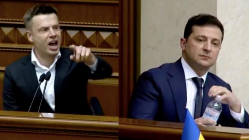Что проинформировал Зеленский, гневно подбежавший кГончаренко