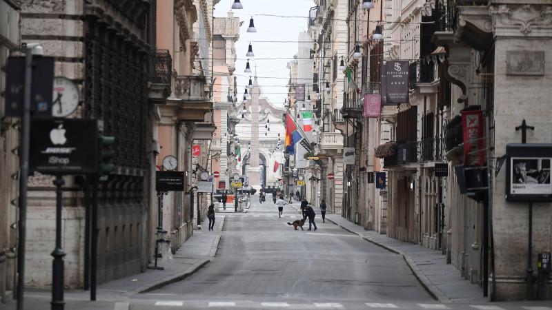 Опустевшая из-за коронавируса улица в Италии. © Reuters
