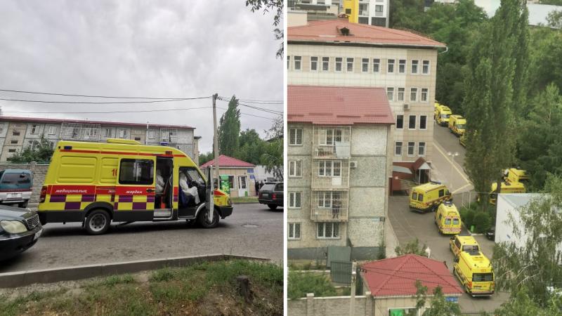 В горздраве Алматы прокомментировали очередь из машин скорой помощи у наркодиспансера