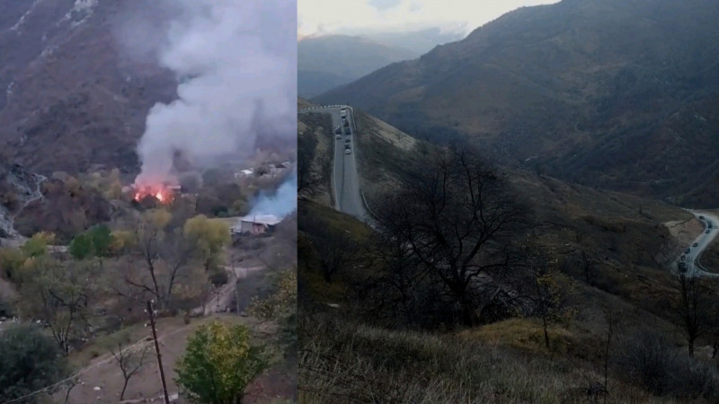 Армянский исход из Карабаха...