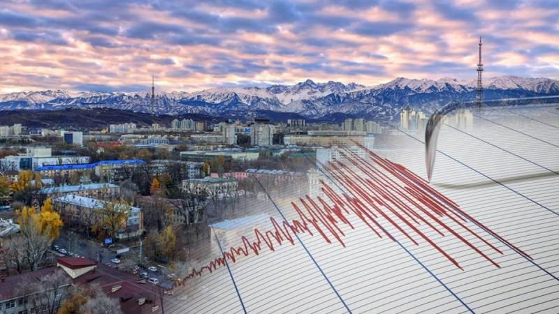 В 170 километрах от Алматы зафиксировано землетрясение