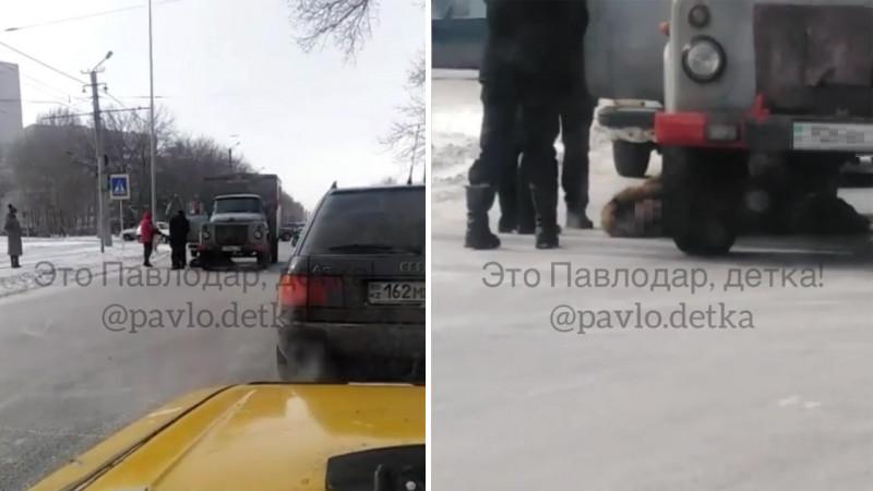 В Павлодаре грузовик сбил женщину на пешеходном переходе