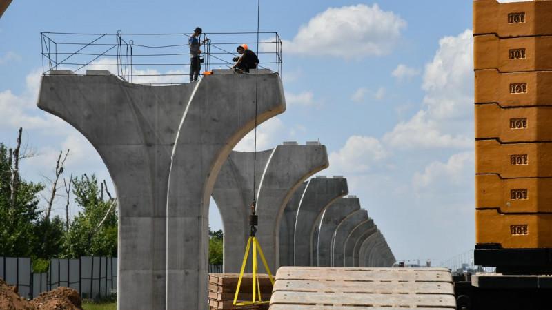 В Нур-Султане официально возобновили строительство LRT