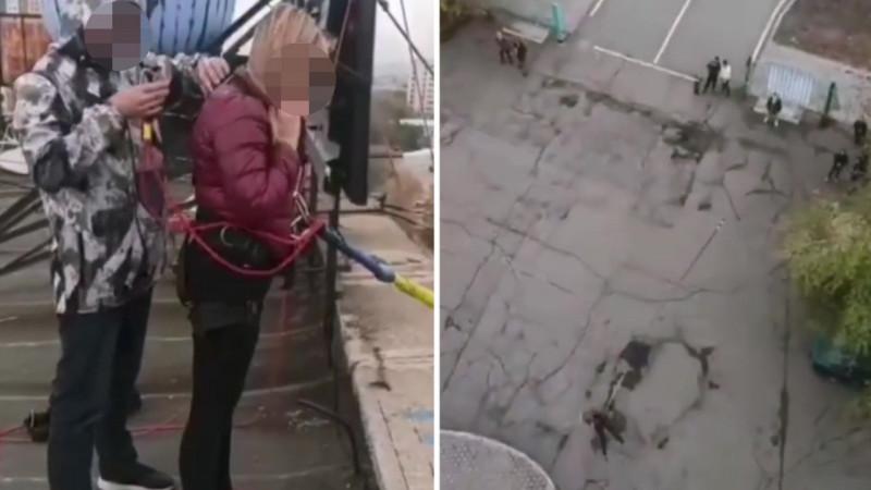 """Разрешений не выдавалось - акимат Сарани о смертельном прыжке с гостиницы """"Созвездие"""""""