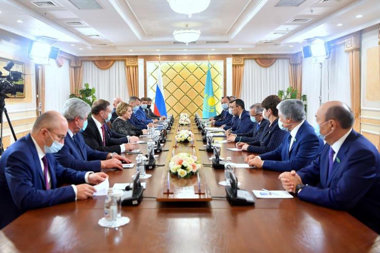 Матвиенко высказалась о территориальной целостности Казахстана и России
