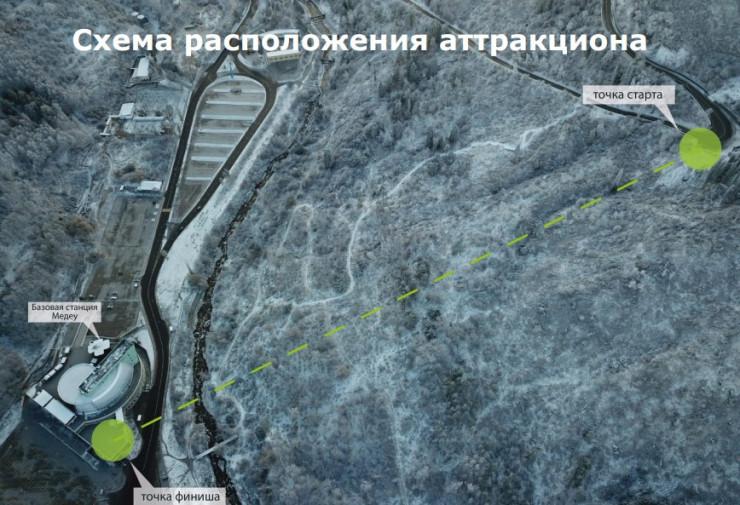 Бурное обсуждение вызвало строительство аттракциона в горах Алматы